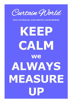 Keep Calm we Always Measure Up