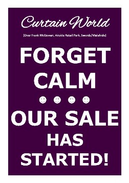 Forget Calm our sale has started